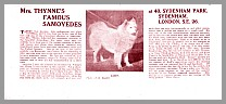 Article: Mrs Thynnes Famous Samoyeds, 1918